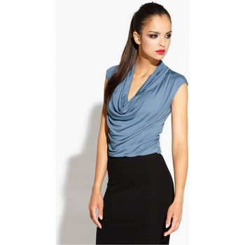 Vêtements Femme Chemises / Chemisiers Dursi Chemisier model 68184 bleu