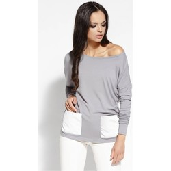 Vêtements Femme Tops / Blouses Dursi Chemisier model 68178 gris