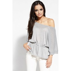 Vêtements Femme Tops / Blouses Dursi Chemisier model 68175 gris