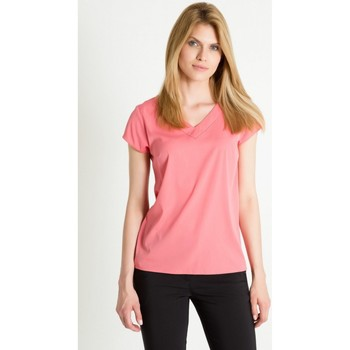 Vêtements Femme T-shirts manches courtes Greenpoint Chemisier model 86374 rosé