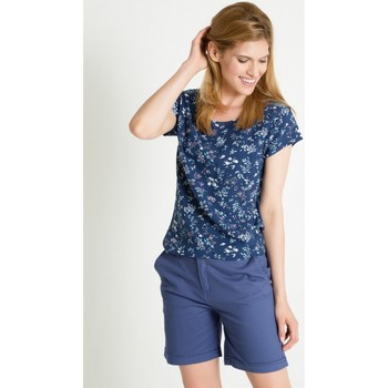Vêtements Femme Chemises / Chemisiers Greenpoint Chemisier model 86381 bleu marine
