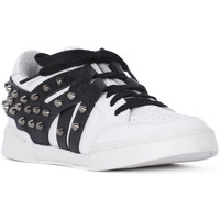 Chaussures Femme Baskets basses At Go GO GALAXY BIANCO VELOUR NERO Bianco