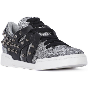 Chaussures Femme Baskets basses At Go GO MICROCRACK ARGENTO Grigio