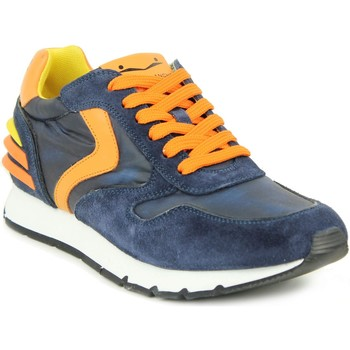 Chaussures Homme Baskets mode Voile Blanche Homme voile blanche sneakers bleues et orange bleu