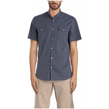 Vêtements Homme Chemises manches courtes Kaporal Chemise Homme Manches Courtes Suki Bleu 19