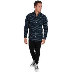 Vêtements Homme Chemises manches longues Minimum CREST Bleu