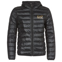 Vêtements Homme Doudounes Emporio Armani EA7 TRAIN CORE ID M DOWN LIGHT Noir / Doré