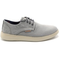 Chaussures Homme Baskets basses Skechers BASKET TOILE STATUS BORGES GRIS CLAIR