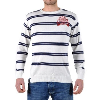 Vêtements Homme Pulls Be And Be Touchdown Pull  à Rayures Blanc