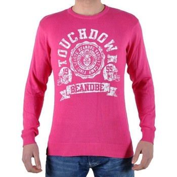Vêtements Homme Pulls Be And Be Touchdown Pull Fushia Blanc