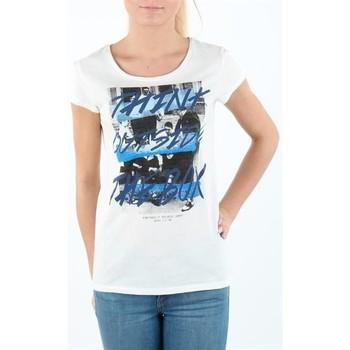 Vêtements Femme T-shirts manches courtes Lee T-shirt Damski SLIM T CLOUD DANCER L41MEVHA biały