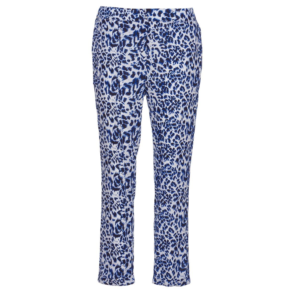 Pantalons fluides See U Soon CLARA Bleu / Noir