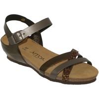 Chaussures Femme Sandales et Nu-pieds Amoa Tulle Gris satiné