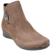 Chaussures Femme Bottines Hirica Bottine Romarine Taupe Beige