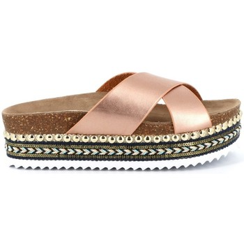 Chaussures Femme Mules Playa Collection Mule plateforme AKO Champagne