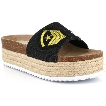 Chaussures Femme Mules Playa Collection Mule plateforme ADDICT Noir