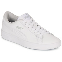 Chaussures Enfant Baskets basses Puma SMASH V2 L JR BLANC