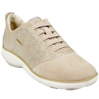 Chaussures Femme Baskets basses Geox Basket D Nebula G Or et Taupe Multicolor