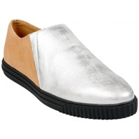 Chaussures Femme Slips on Geox Slip On D Amalthia E Silver Multicolor
