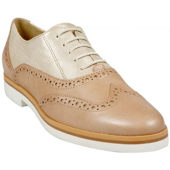 Chaussures Femme Derbies Geox Richelieus D Janalee G Gold Taupe Multicolor