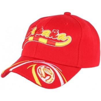Accessoires textile Casquettes Pays Casquette Espagne Football rouge jaune blanche Rouge