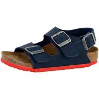 Chaussures Enfant Sandales et Nu-pieds Birkenstock sandales  enfant Milano Birko Flor Bleu