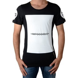 Vêtements Homme T-shirts manches courtes Celebry Tees Tee Shirt Impossible Noir
