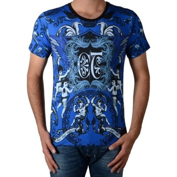 Vêtements Homme T-shirts manches courtes Celebry Tees Tee Shirt Gothic Bleu