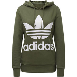 Vêtements Femme Sweats adidas Originals Sweat-shirt à capuche Trefoil Vert