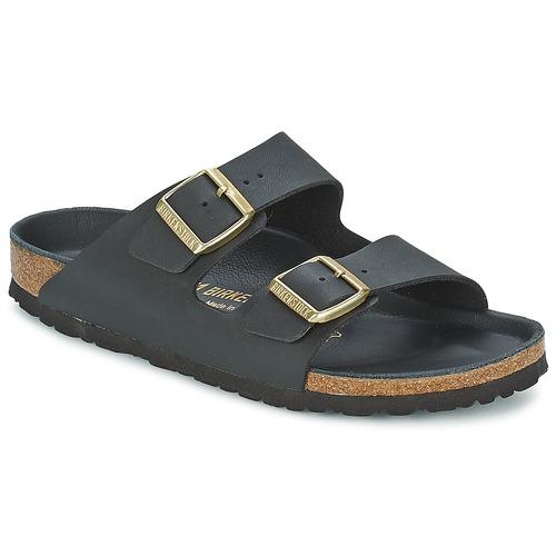 Birkenstock Sandale Femme Arizona Noir - Chaussures Mules Femme