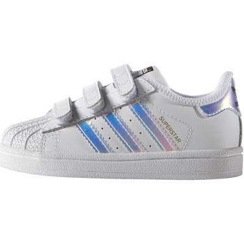 Chaussures Fille Baskets basses adidas Originals Chaussure SST Blanc / Blanc / Argent