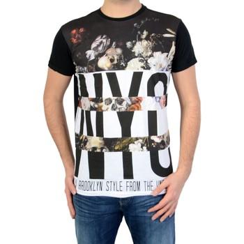 Vêtements Homme T-shirts & Polos Deeluxe T-shirt s16-150 Noir Blanc