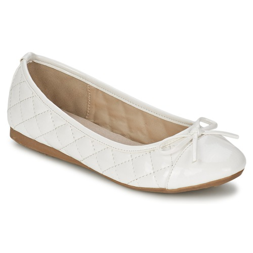 Chaussures Femme Ballerines / babies Moony Mood EMA Blanc / Verni