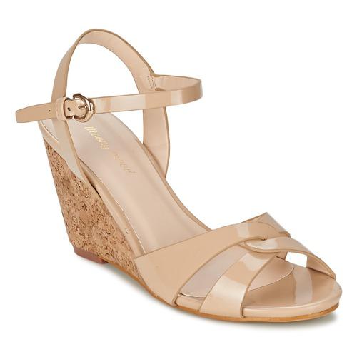 Chaussures Femme Sandales et Nu-pieds Moony Mood MAINTIRANA Beige / Verni