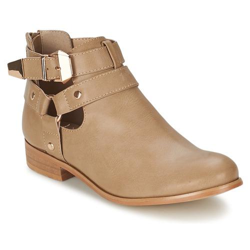 Chaussures Femme Boots Moony Mood BEZAH Beige