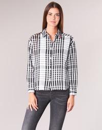 Vêtements Femme Chemises / Chemisiers Scotch & Soda FRINDA Noir / Blanc