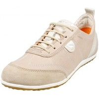 Chaussures Femme Baskets mode Geox Basket D Vega A Taupe Beige