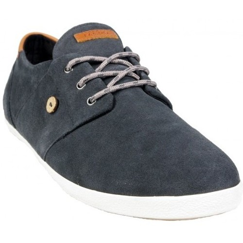 Faguo Cypress Suede Ardoise Gris - Chaussures Baskets basses Homme
