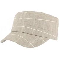 Accessoires textile Casquettes Léon Montane Casquette militaire marron rayures blanches Aincy Marron