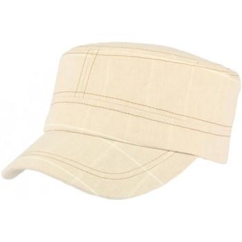 Accessoires textile Casquettes Léon Montane Casquette militaire beige rayures blanches Aincy Beige