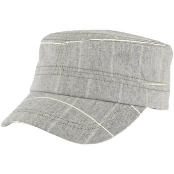 Accessoires textile Casquettes Léon Montane Casquette militaire grise rayures blanches Aincy Gris