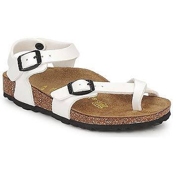 Chaussures Fille Sandales et Nu-pieds Birkenstock TAORMINA Blanc verni
