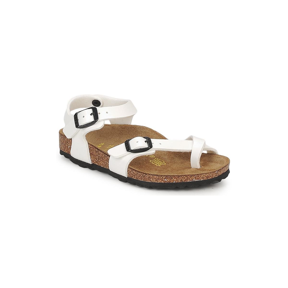Sandale Birkenstock TAORMINA Blanc verni