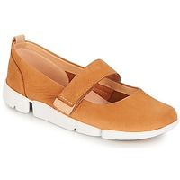 Chaussures Femme Ballerines / babies Clarks Tri Carrie Tan Nubuck