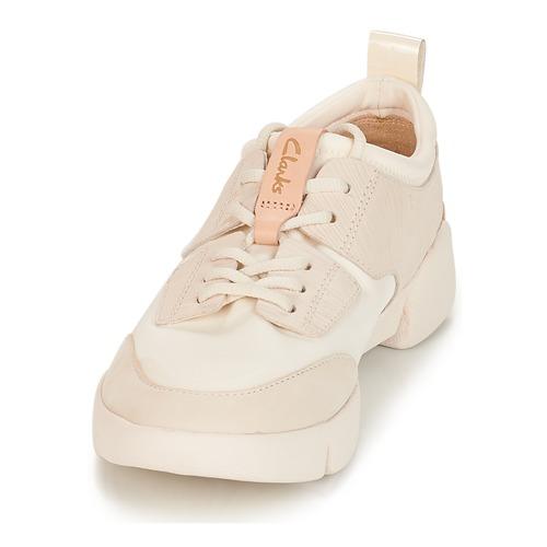 Baskets White Tri Combi Chaussures Spirit Femme Basses Clarks 9YEIWDH2