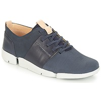 Chaussures Femme Baskets basses Clarks Tri Caitlin Navy Combi