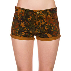 Vêtements Femme Shorts / Bermudas Obey HARD ROAD Camouflage