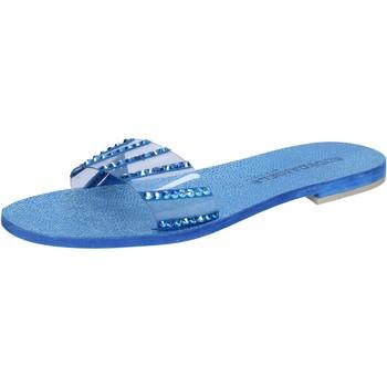 Chaussures Femme Sandales et Nu-pieds Eddy Daniele chaussures femme  sandales bleu daim plastica con cristalli swar bleu