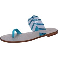 Chaussures Femme Sandales et Nu-pieds Eddy Daniele sandales bleu daim plastica swarovski aw487 bleu