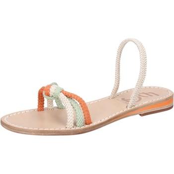 Chaussures Femme Sandales et Nu-pieds Eddy Daniele chaussures femme  sandales blanc corda vert orange aw479 multicolor
